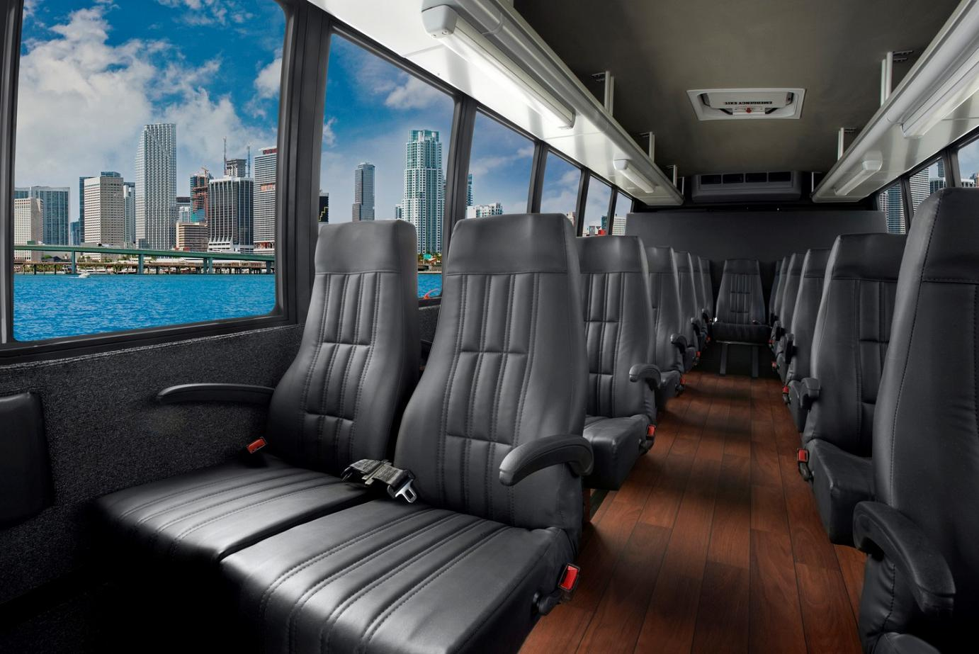 Chicago Limo Service - 25 passenger Mini Buses - interior