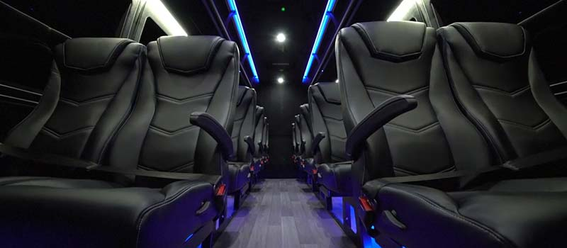 Chicago Limo Service - 30 Passenger Luxury Mini Bus - interior