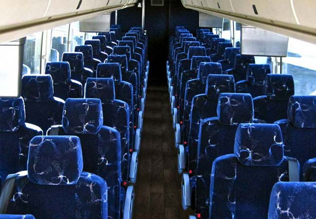 Chicago Limo Service - 55 and 57 passenger coaches - interior